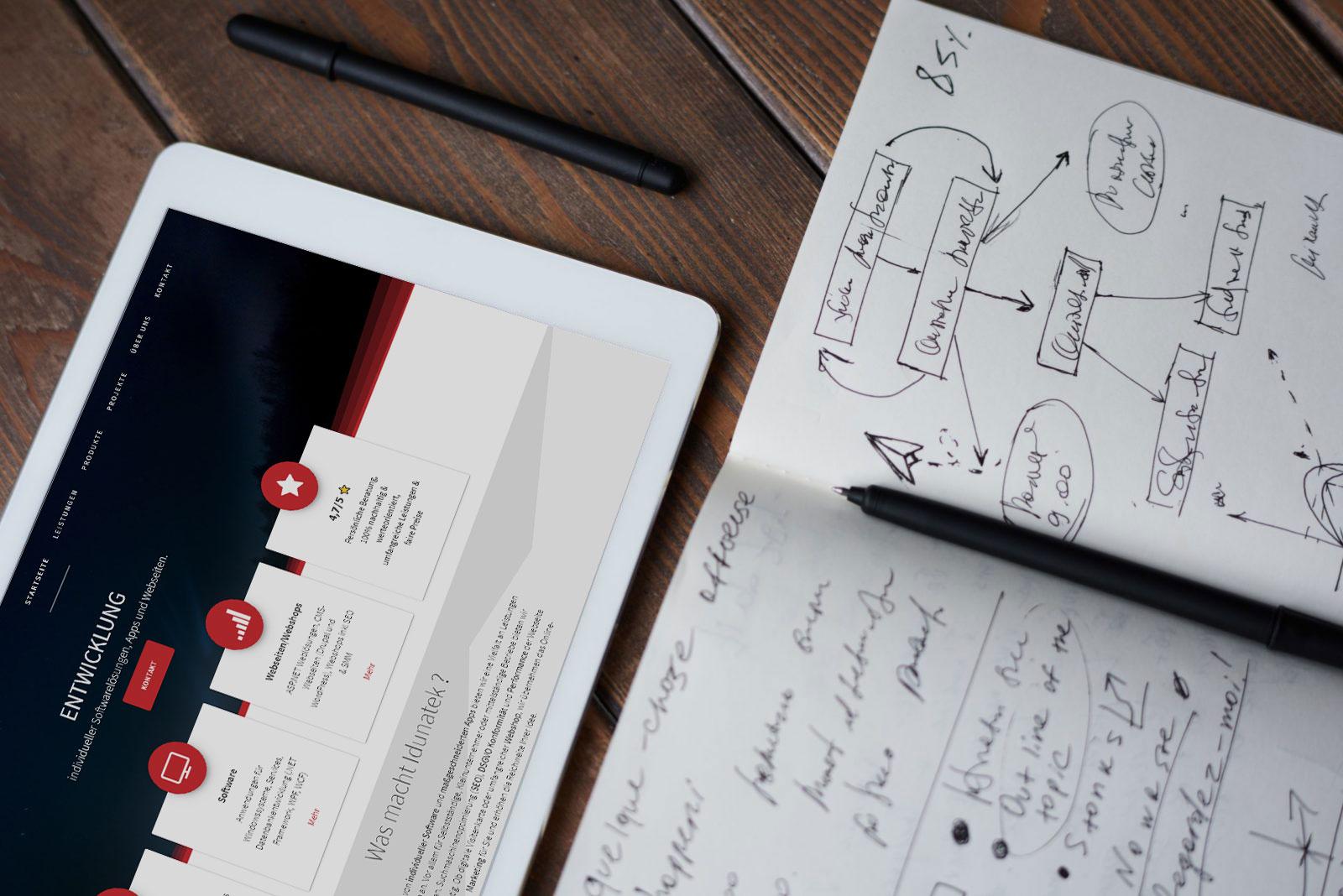 Webdesign, Responsive, Webentwicklung, Idunatek, WordPress, Joomla, Typo3, CMS, workflow optimierung