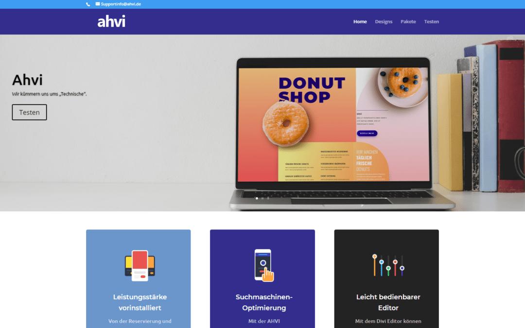 ahvi webseite, webdesign, Wordpress, Divi