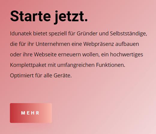 Idunatek, Webseite Mainz, Gründer, Selbstständige, Unternehmen Wiesbaden Website, Komplettpaket, Webdesign in 55116 Mainz,  Responsive