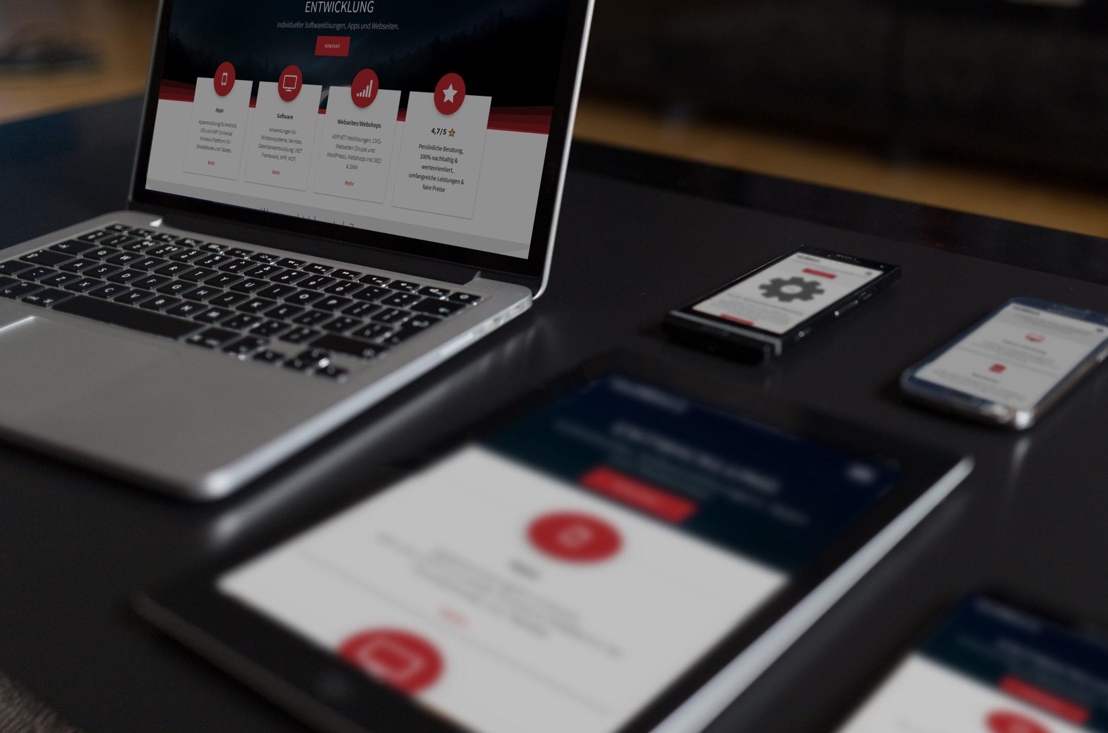 webdesign, webentwicklung, idunatek, webshops, responsive, an geräte angepasst, smartphone, laptop, wordpress, joomla