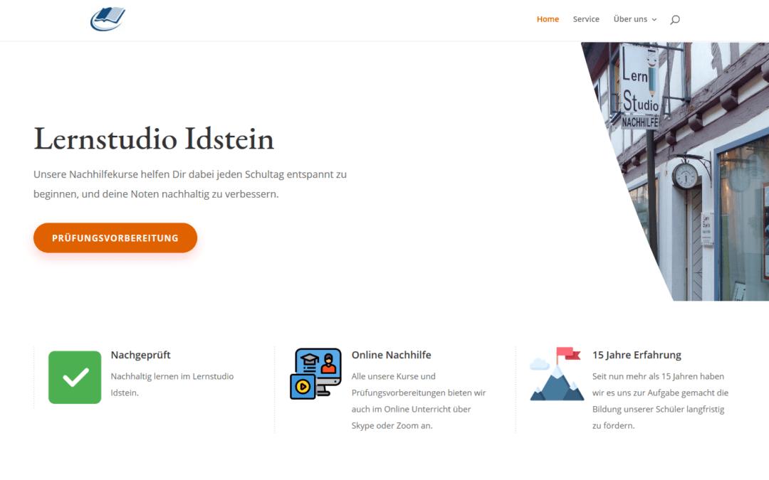 Lernstudio Idstein, Nachhilfe, Lernen, Webseite, Idunatek, Webdesign