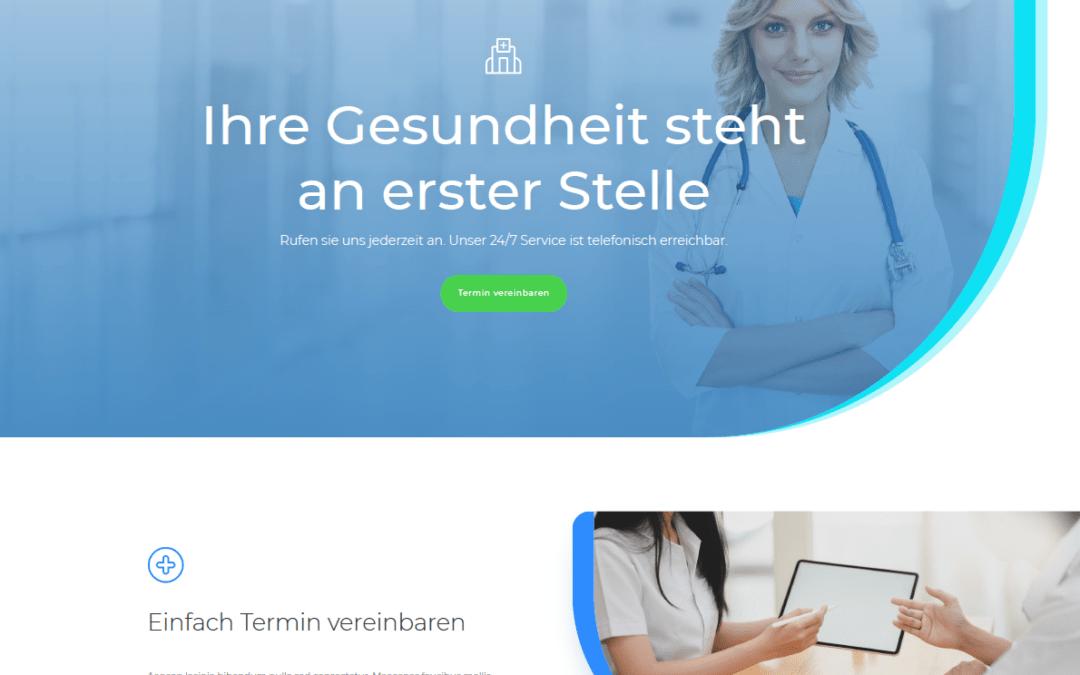 Arztseite, Idunatek Software-Entwicklung, Webentwicklung, Webdesign, Homepage, Muster