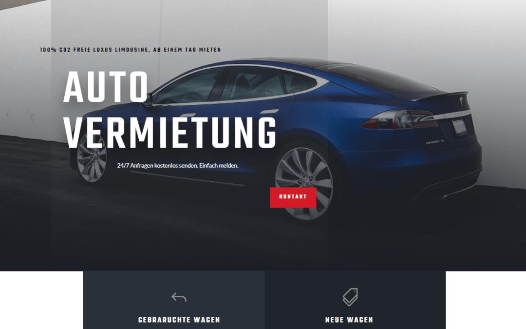 Auto-Vermietung, Idunatek, Softwareentwicklung, Webentwicklung, Webdesign, Muster, Webseite, Webshop