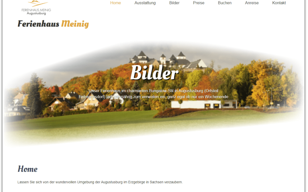 Ferienhaus Meinig, Vermietung, Unterkunft, Webseite, Webdesign by Idunatek aus Idstein bei Frankfurt am Main, Softwareentwicklung