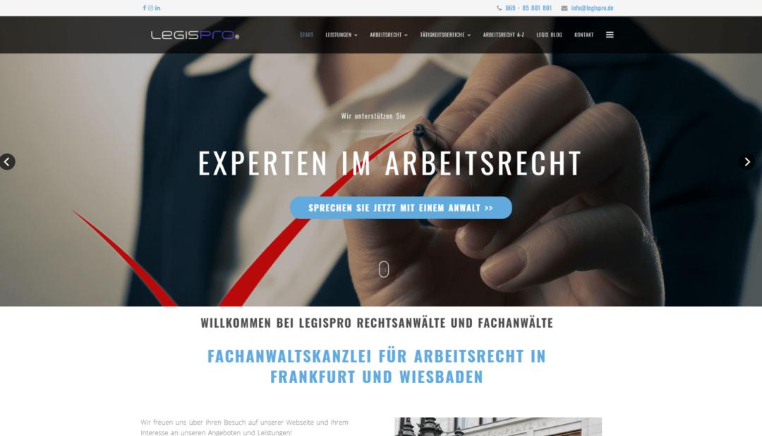 Legispro rechtsanwaltskanzlei projekt idunatek webdesign webentwicklung frankfurt am main, mainz, idstein